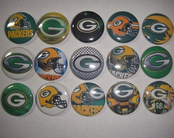Green Bay Packers Buttons Set of 15
