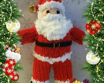SANTA Claus/Father CHRISTMAS Simple/Easy KNITTING pattern, Great for kids/children, Xmas, Noel, Gift idea, Autumn project, Soft toy, Doll
