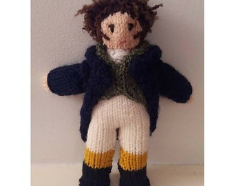 MR. DARCY: Make your own knitted Mr. Darcy figure/doll. Kit by Kwerky Knits