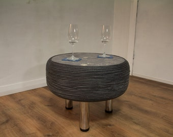 Up-cycle side coffee table