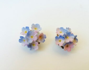 Vintage English Fine Bone China Royal Worcester Earrings