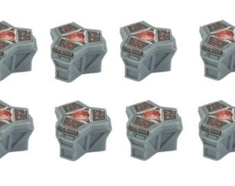 Star Wars Imperial Assault Custom Terminal Holder Tokens - Set of 8