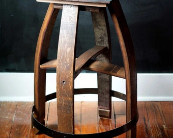 Authentic Reclaimed Cabernet Wine Barrel Stool