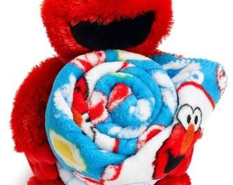 Sesame Street Elmo Basket Friend with Throw