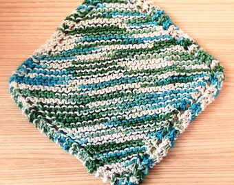 Handmade Knitted Wash Cloth