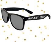 Ring Security Custom Kids Sized Wedding Sunglasses