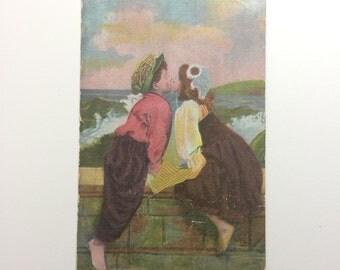 The Kiss Vintage Postcard
