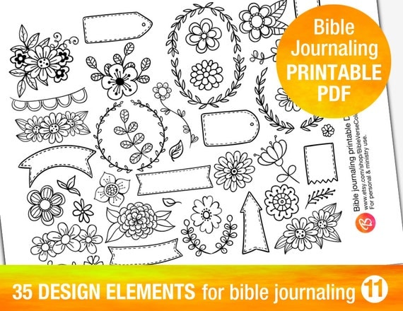 35 PRINTABLE TEMPLATES For Bible Journaling By