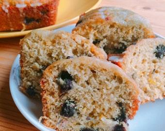 Lemon Glazed Blueberry Bread Petite Loaves (Four Pack)
