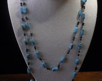 Tourquoise Art Glass Bead Necklace