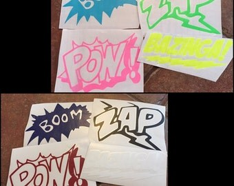 Comic Book Sound Effects Decal Set