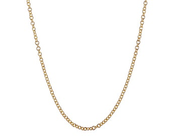 "Roller Chain 14k Rose Gold - 18.0"" (1.10gms)"