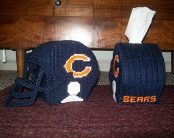 Bears Football Helmet Kleenex Box Cover