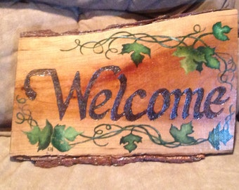 Welcome Ash Tree Sign