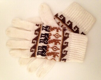 White Alpaca Gloves