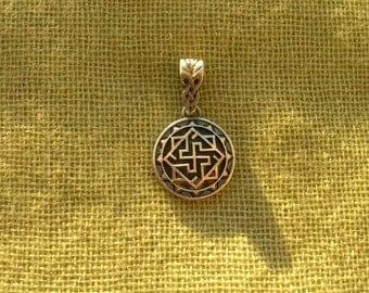 PEQUEÑO colgante de Valkyrie. Collar de Viking de Valkyrie. Amuleto del nórdico. Joyería hecha a mano de Viking. La joyería. Amuleto del solar. Colgante de paganos.