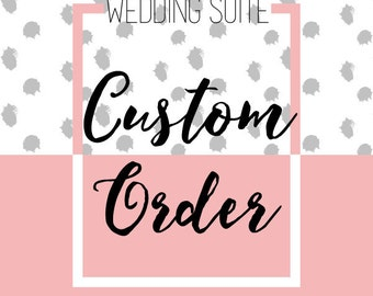 Custom Wedding Invitation Suite  - Design Fee & Final Digital Files {Printable Wedding Suite}