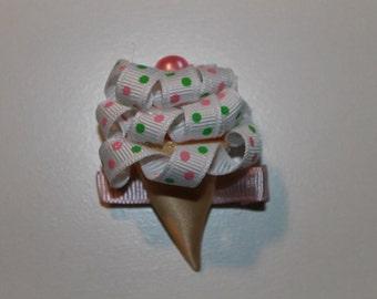 Icecream cone hair clip