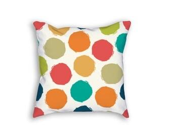 Cover + Insert | Hipster Dots Throw Pillow | 18x18