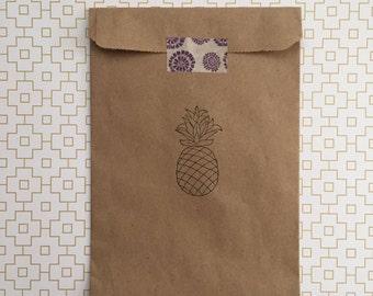 25 Pineapple Favor Bag - Birthday Favor Bags - Destination Favor Bags - Beach Favor Bags - Hawaiian Party Favor Bags - Tropical Favor Bags
