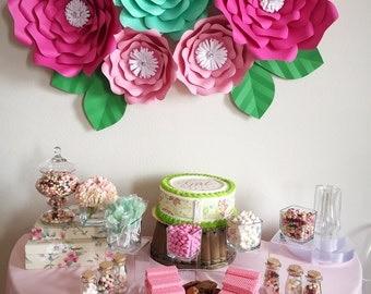5 piece paper flower, baby shower, decor