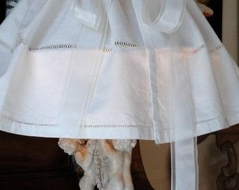Lampshade in fine linen petticoat