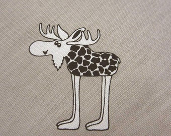 cotton fabric moose on safari Vildar Algar Arvidssons