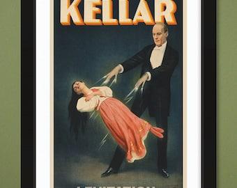 Keller (Magician) – Levitation – Show Poster – Library of Congress (12x18 Heavyweight Art Print)