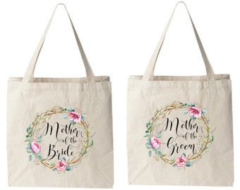 Wedding Tote Bags,Mother of the Bride and Groom Tote Bags, Mother of  Bride Groom Bag, Wedding Tote Bag, Bridal Tote Bag, Wedding Bag
