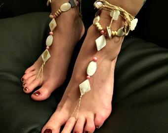 "Barefoot sandals ""Mermaids Dream"""