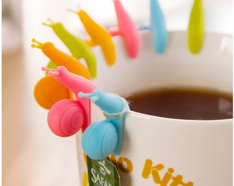Cute Silicone Snail Tea Bag holders
