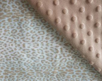 Cheetah Print Minky Baby Blanket