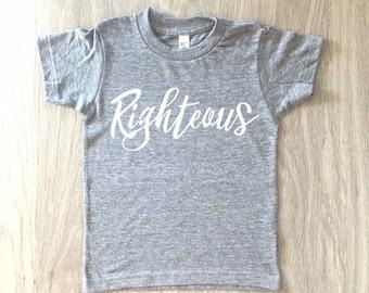 Righteous tshirt - baby boy or girl shirt - toddler t-shirt - summer tee