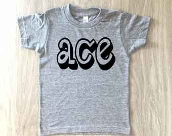 Ace tshirt - baby boy or girl shirt - toddler t-shirt - summer tee