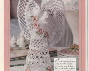 Bedside guardian-vintage crochet angel pattern in pdf