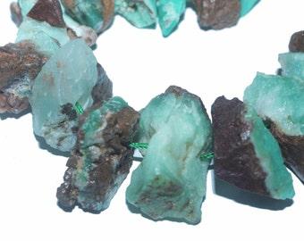 28-32mm freeform australian jade nugget Rough gemstone beads 6pc