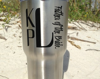 One, Personalized, Wedding, RTIC, Tumbler, Stainless Steel, 20oz, 30oz, Groom, Best Man, Father of The Bride, Father of the Groom