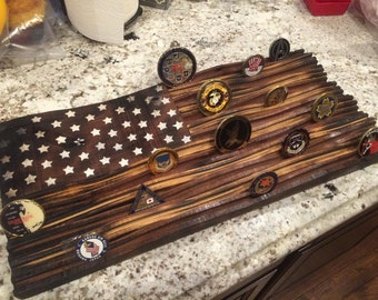 Old Glory ( American Flag ) Coin Rack