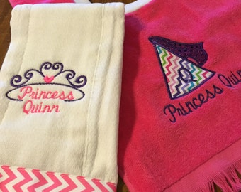 Burp Cloth and Pullover Bib Set - Customizable