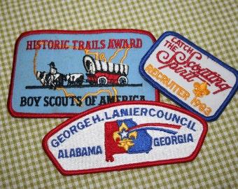 Boy Scout Patches , Lot of 3 , Boy Scout Memorabilia