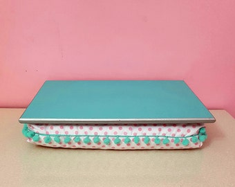 Fancy Lap desk, one of a kind lapdesk design by elekbas, cushion tray, laptop desk, lapdesk, bed tray, for girls, ready to ship