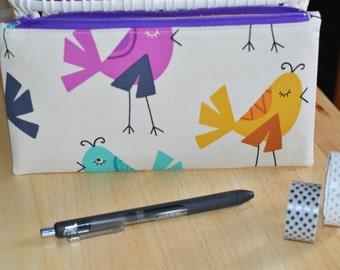 Zipper Pouch, Pen Pouch, Planner Pouch, Pencil Case