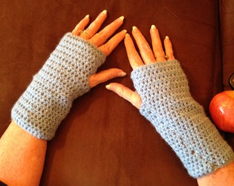 Crochet Fingerless Gloves/Fingerless Arm Warmers/Texting Gloves/Fingerless Gloves/Forearm-Warming Fingerless Gloves/Typing Gloves/Gloves