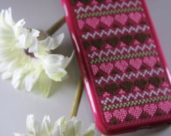 Case IPhone 6 (5/5S), Cross Stitch Case for IPhone 6/6S, Cellphone  Case, Finished Cross Stitch