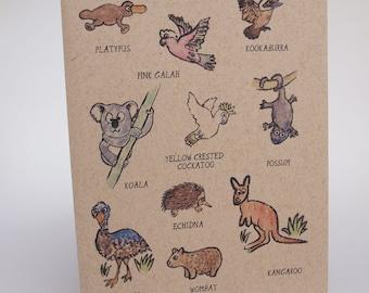 Greeting Card- Animals in Australia