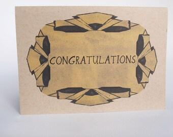 Greeting Card- Congratulations, deco fans