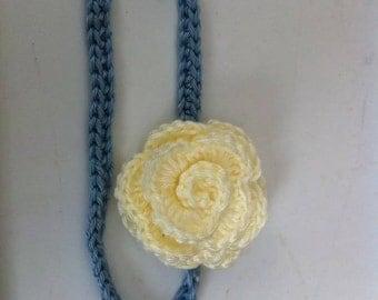 Crocheted Rose Headband