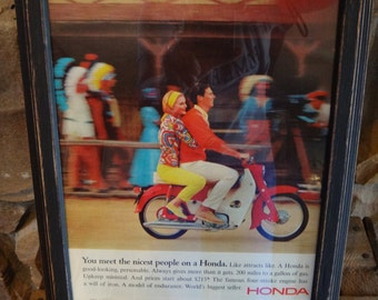 Honda Framed Advertisement Picture