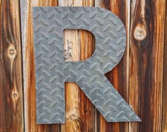 Steel Diamond-plate Letter