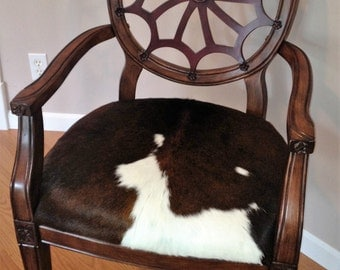 Genuine Cowhide Upholstered Accent Chair